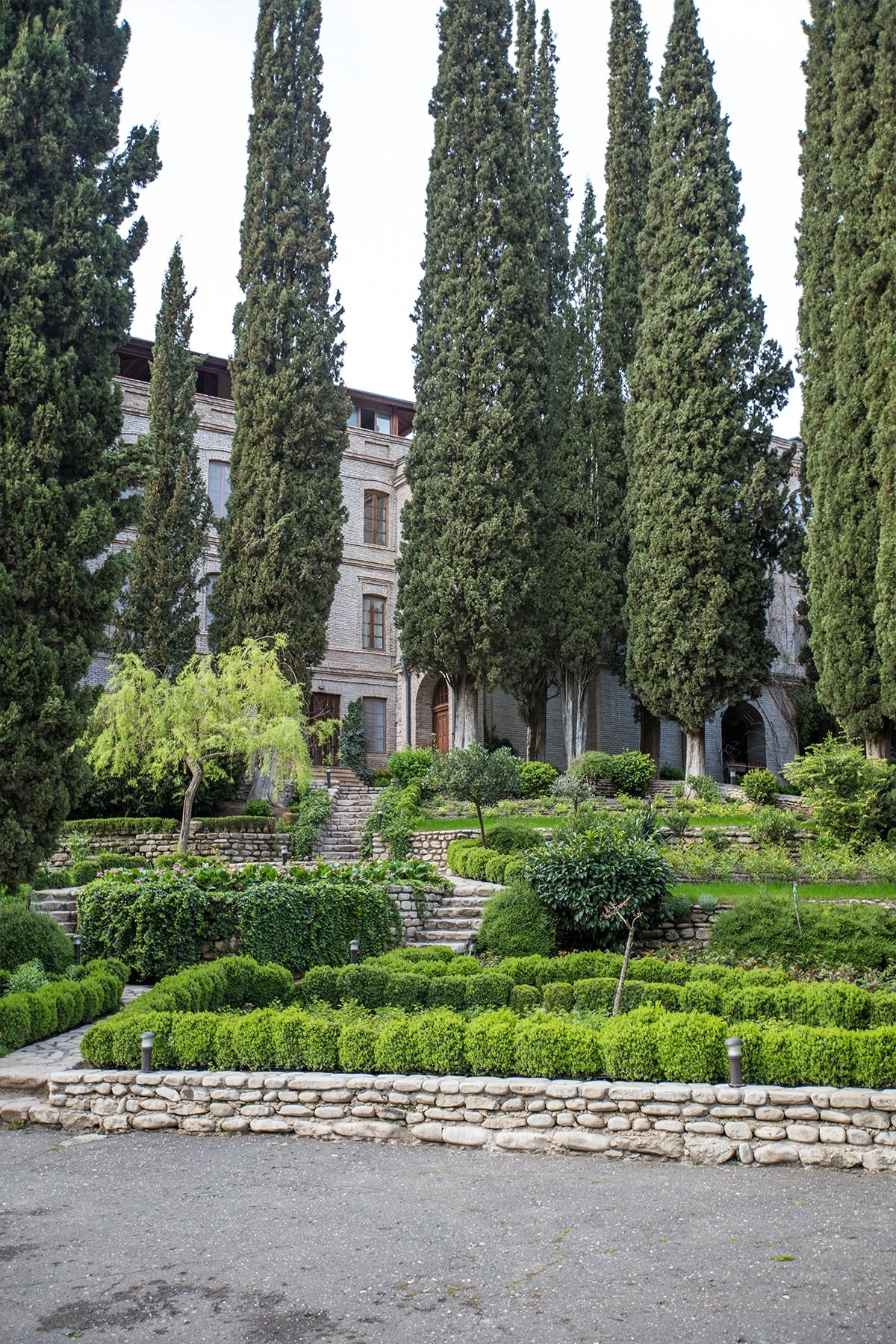 Gardens at Sain Ninos Cathedral, Khaketi Georgia