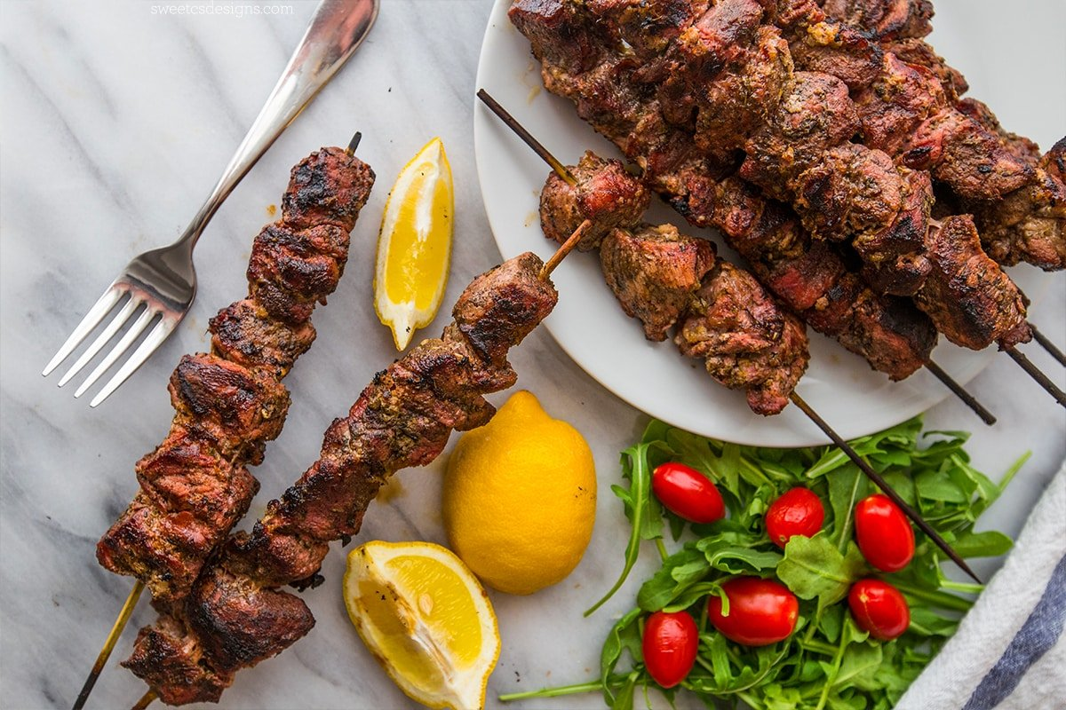 Grilled souvlaki- this is one of my favorite summer meals!