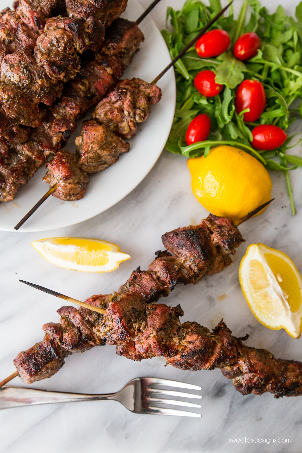 Perfect grilled souvlaki- the secret to juicy, flavorful pork is this easy preparation method!
