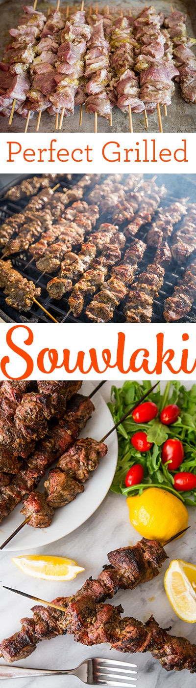 Perfect grilled souvlaki- this is the secret to tender, juicy grilled pork souvlaki!