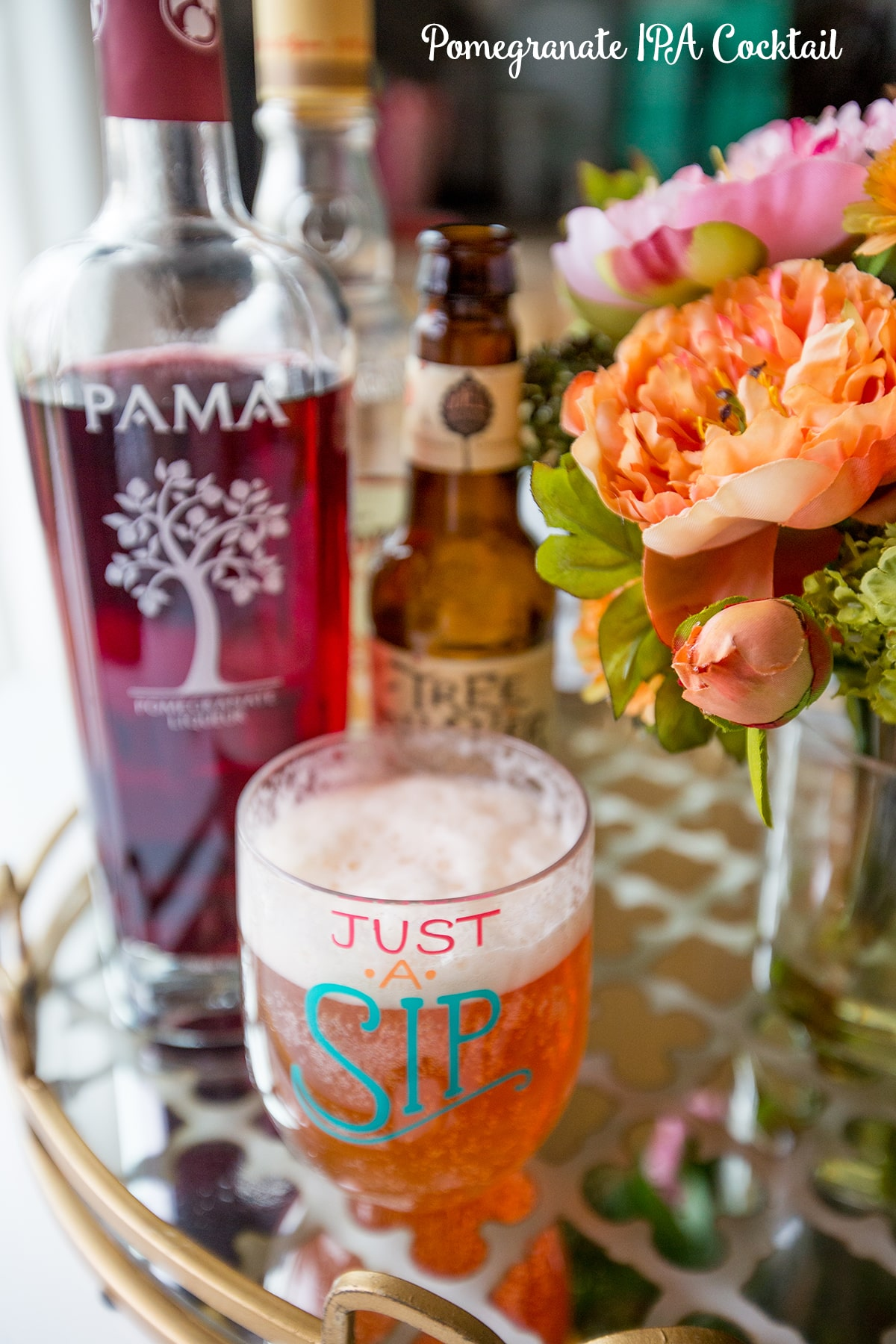 Pomegranate IPA Cocktail- this is such a delicious summer party drink!