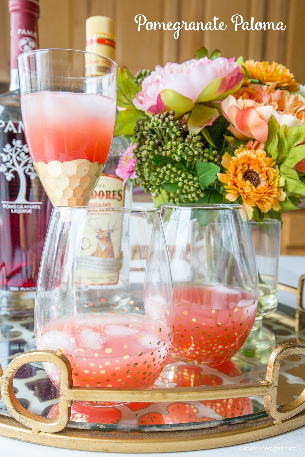 Pomegranate paloma cocktail and mocktail recipe for Summer drinks for party