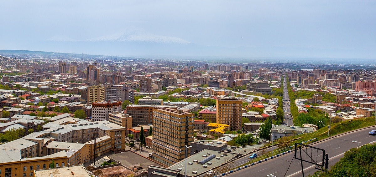 Yerevan, Armenia with Ararat in Background