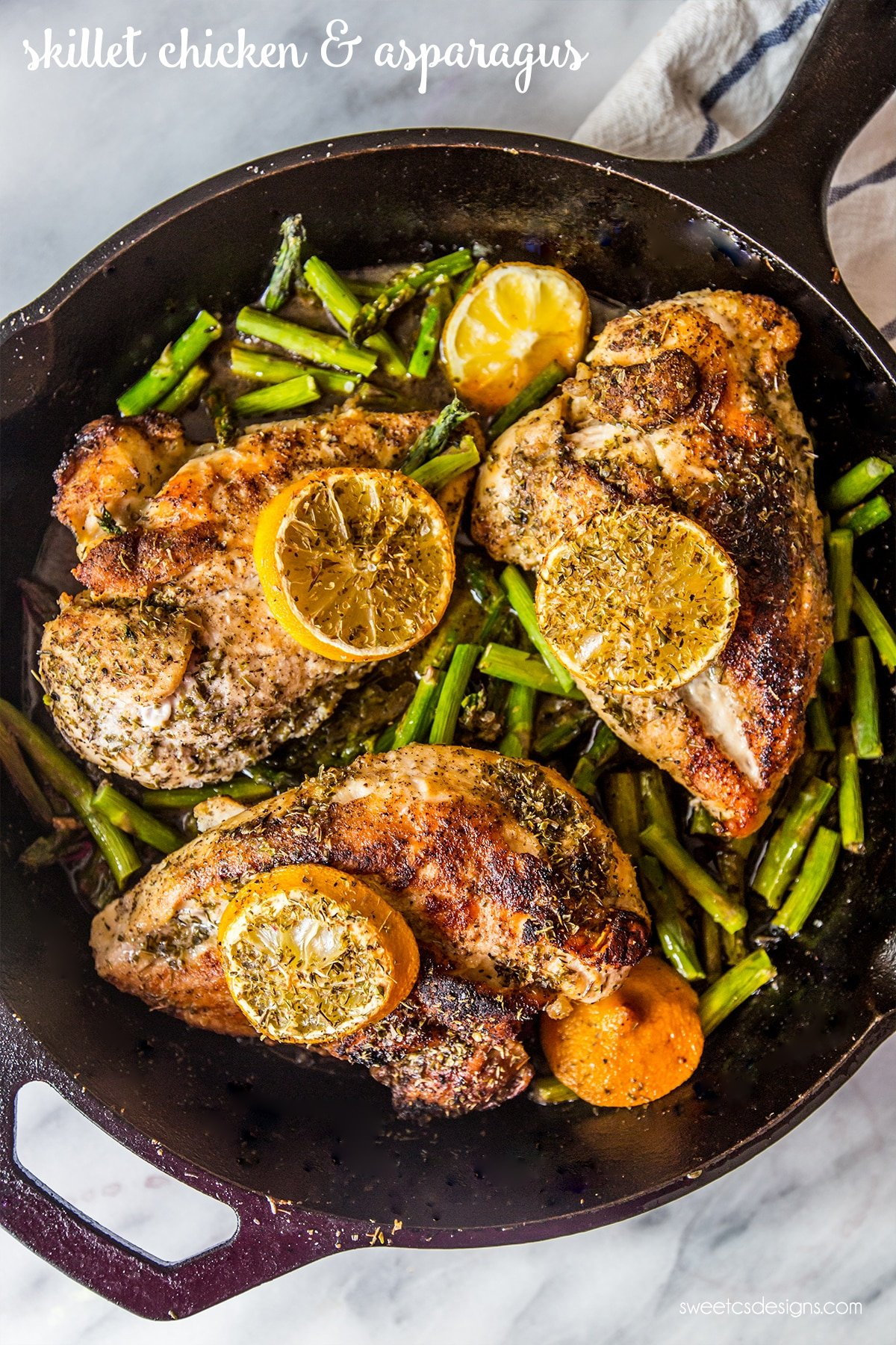 Skillet Chicken And Asparagus Delicious And Easy!