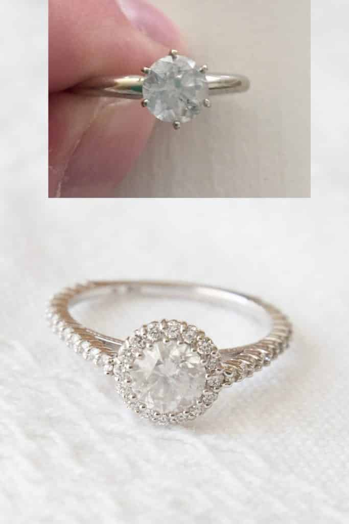 Love this before and after- what a great ring update idea!
