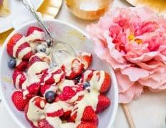 Berries and Creme Anglaise