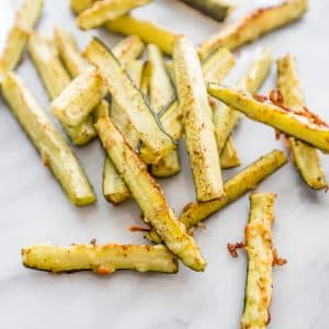 Paleo Garlic Parmesan Zucchini Fries