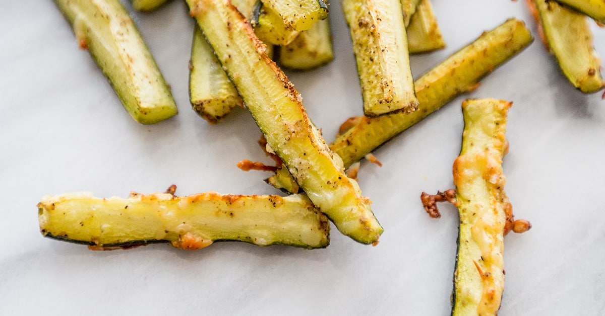 paleo friendly parmesan garlic zucchini fried