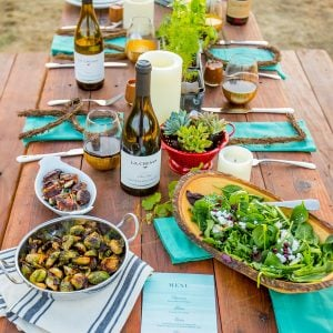 Fall Harvest Tablescape with Succulent Centerpieces