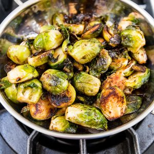 Pan Fried Brussels Sprouts with Ghee