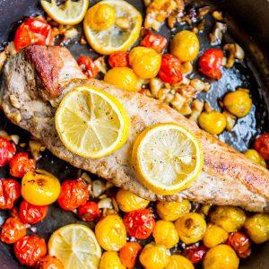 Five Ingredient One Pan Tuscan Pork Loin