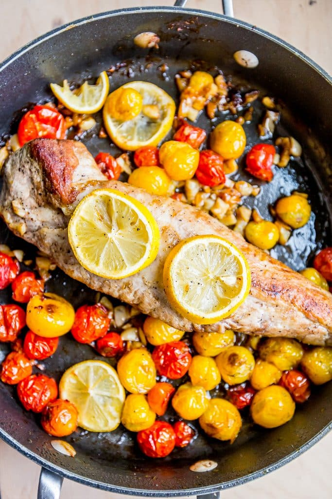 This recipe for one pot tuscan pork is amazing!!