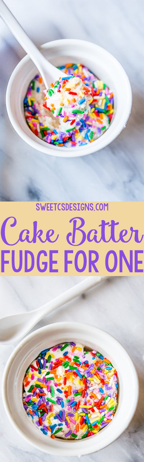 Cake batter fudge for one- get in my belly!
