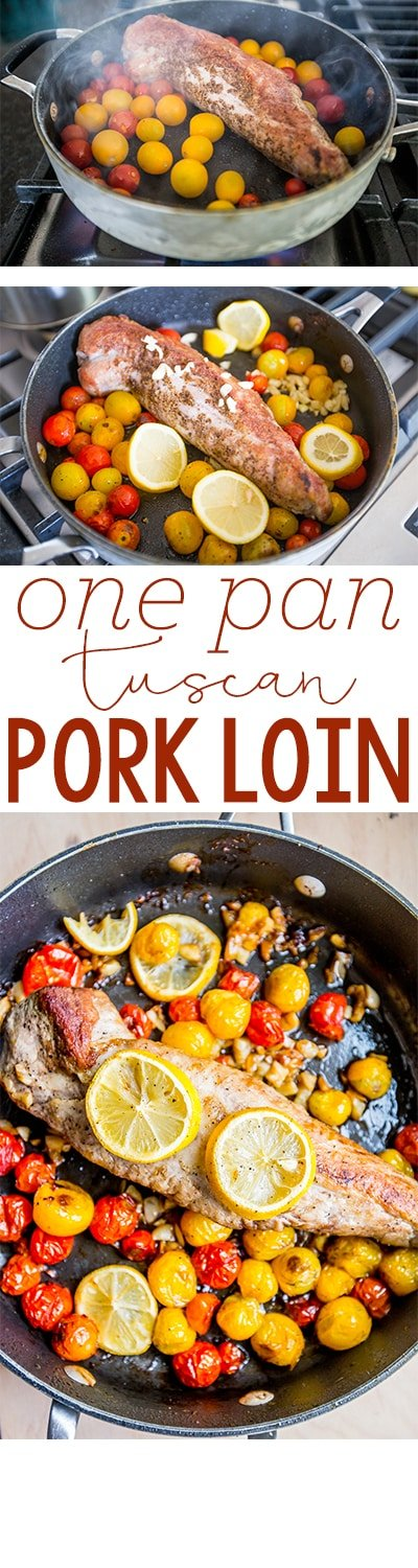 One pan tuscan pork loin - this is a delicious, easy one pot meal the whole family loves!