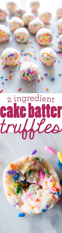 Ingredient No Bake Cake Batter Truffles