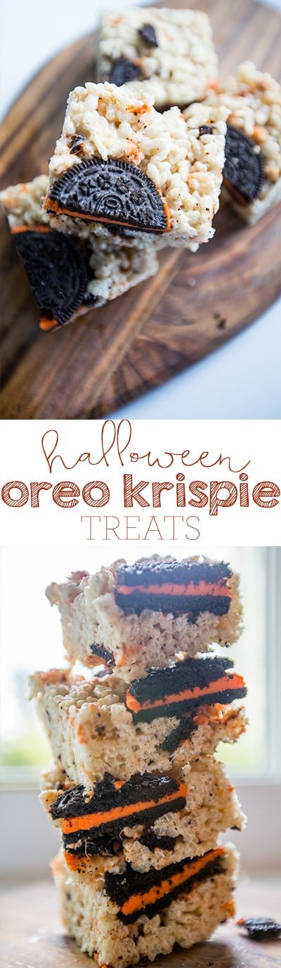 halloween oreo krispie treats- my favorite!