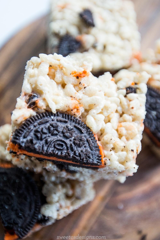 oreo krispy treats- these are so delicious!