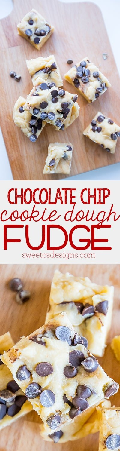 The tastiest vanilla fudge ever- chocolate chip cookie dough fudge!