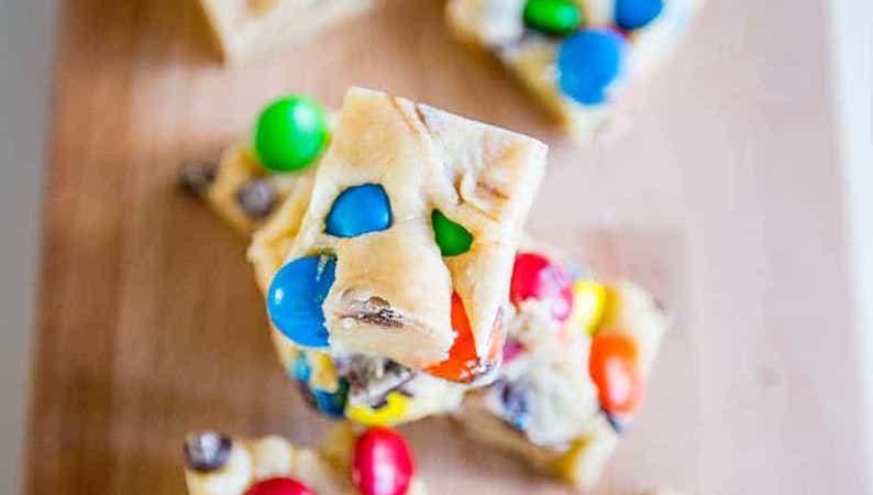 Candy Cookie Dough Fudge