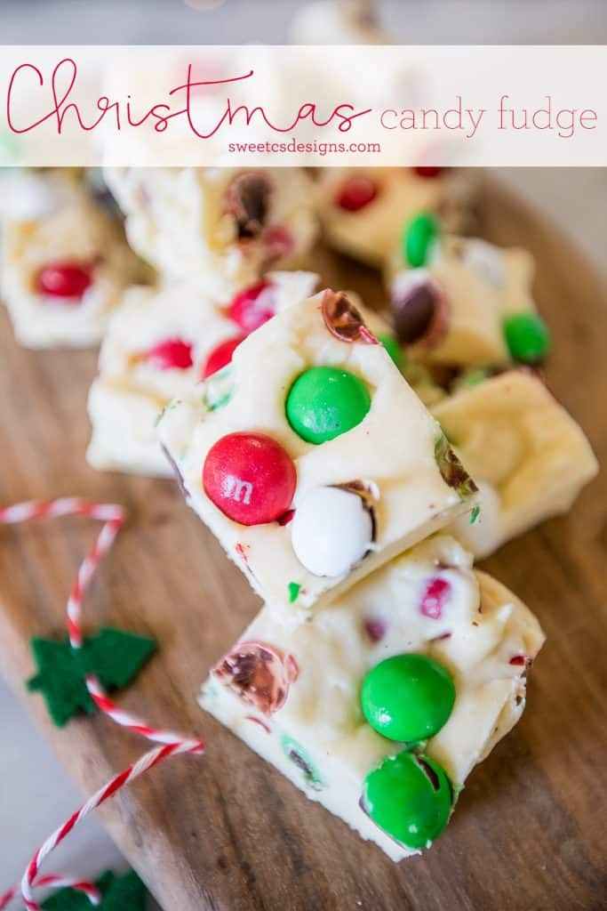 Christmas Candy Cookie Dough Fudge – Neighbor Gift