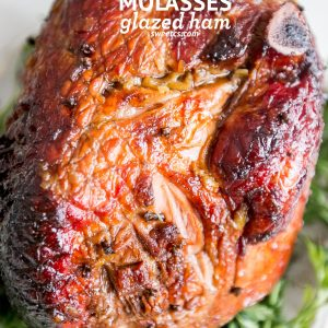 Bourbon Molasses Glazed Ham
