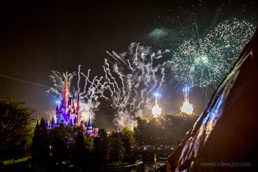 Disney World Christmas Fireworks show