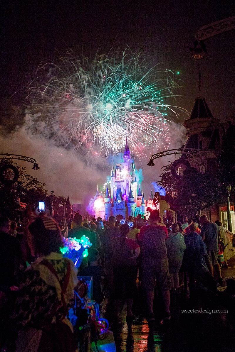 Disney World Fireworks at Christmas!