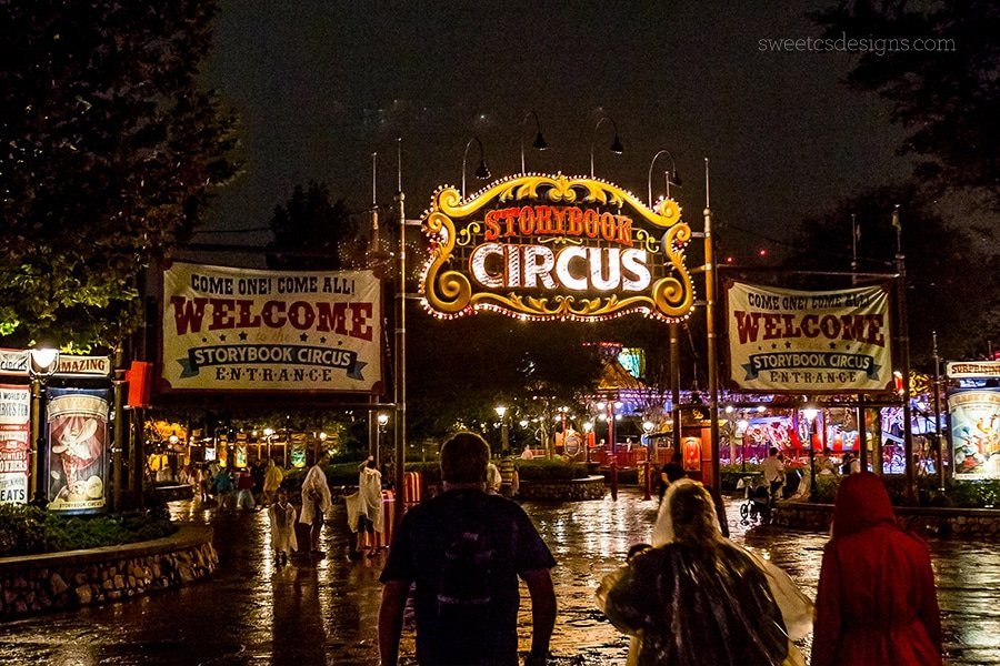 Disney World at night - I love the Storybook Circus area!