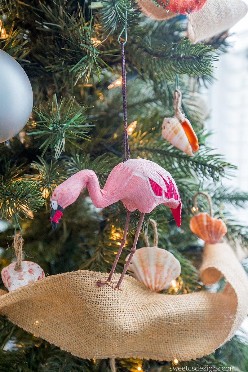 Love this adorable flamingo ornament from world market!