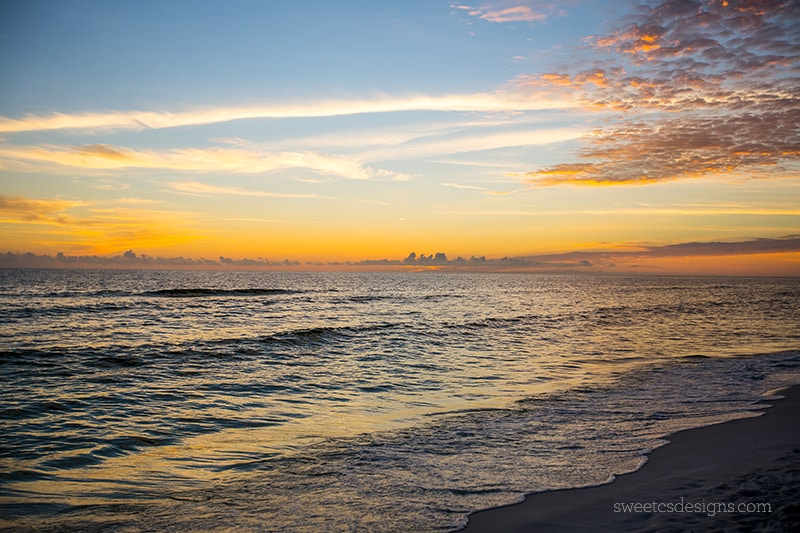Sunset at the beach - Seaside Florida