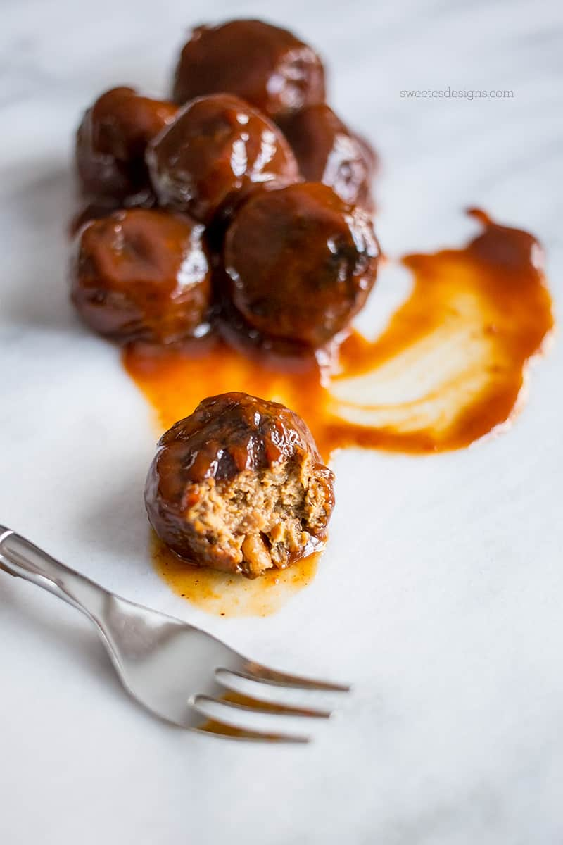 These BBQ meatballs are so good- you'd never know they are paleo and vegan!