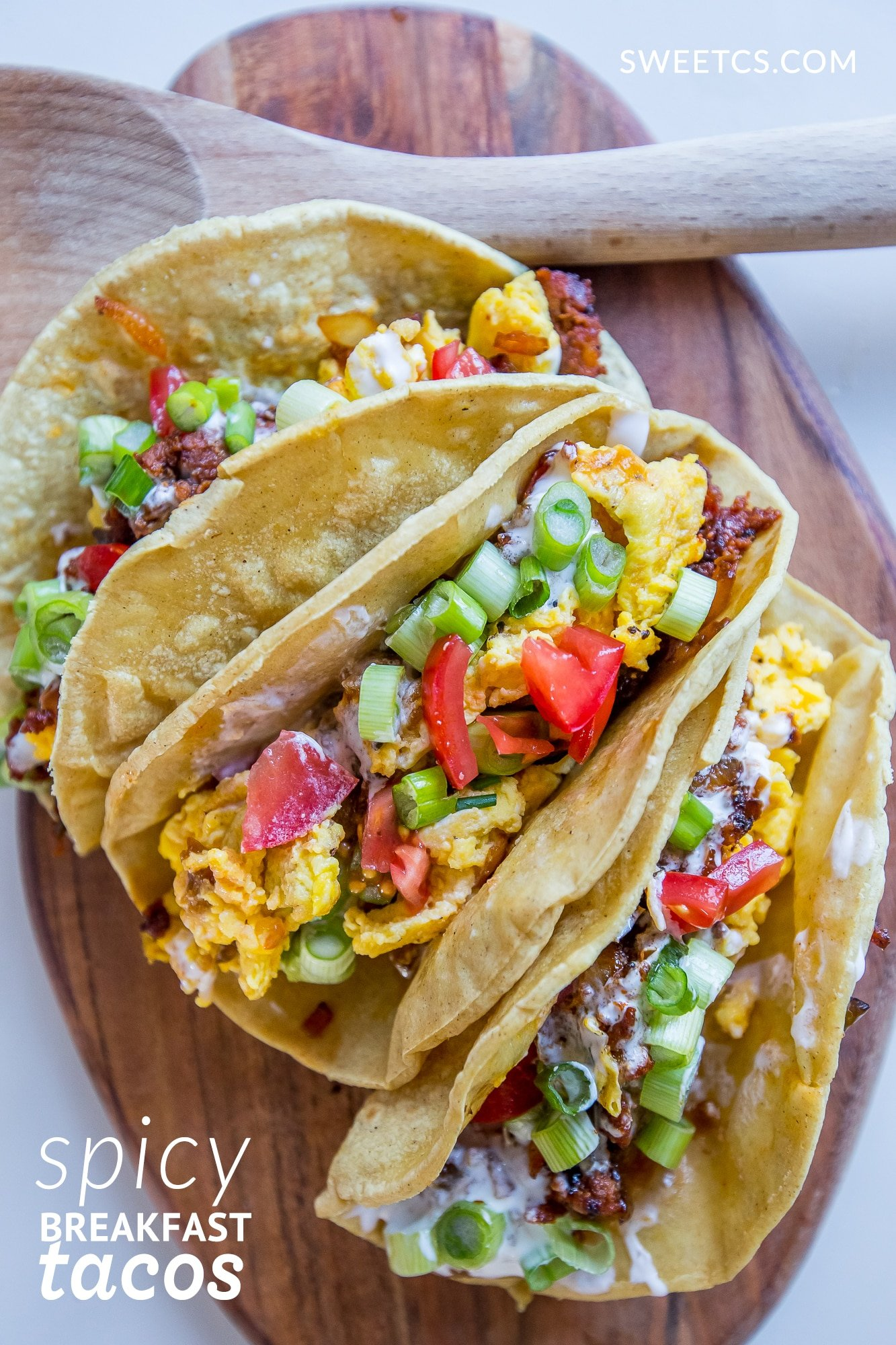These breakfast tacos are so delicious and full of flavor!