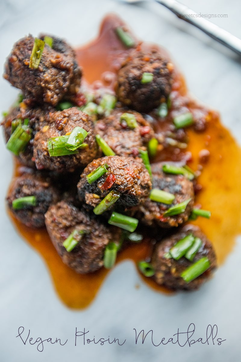These vegan hoisin meatballs are so delicious!