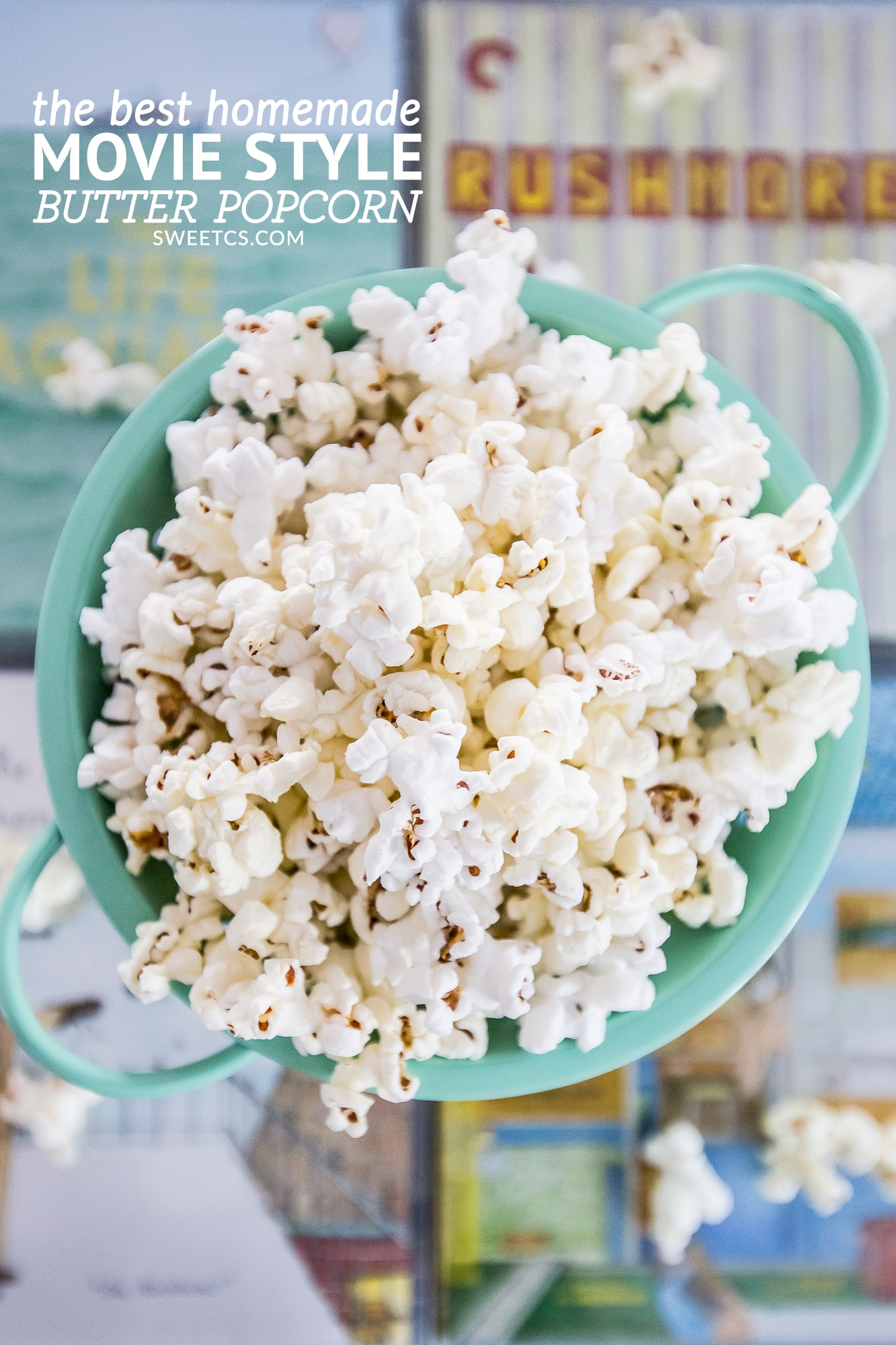 This buttery popcorn is so delicious and easy- no fake stuff with tons of movie style flavor!