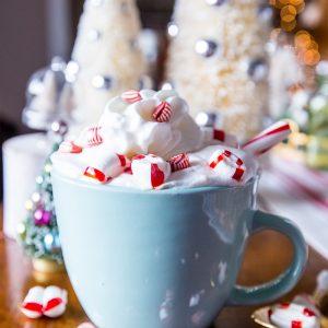 White Cocoa Peppermint Latte