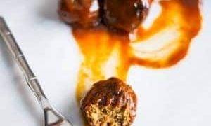 Vegan Paleo BBQ Meatballs - 45 minutes, 24 meatballs