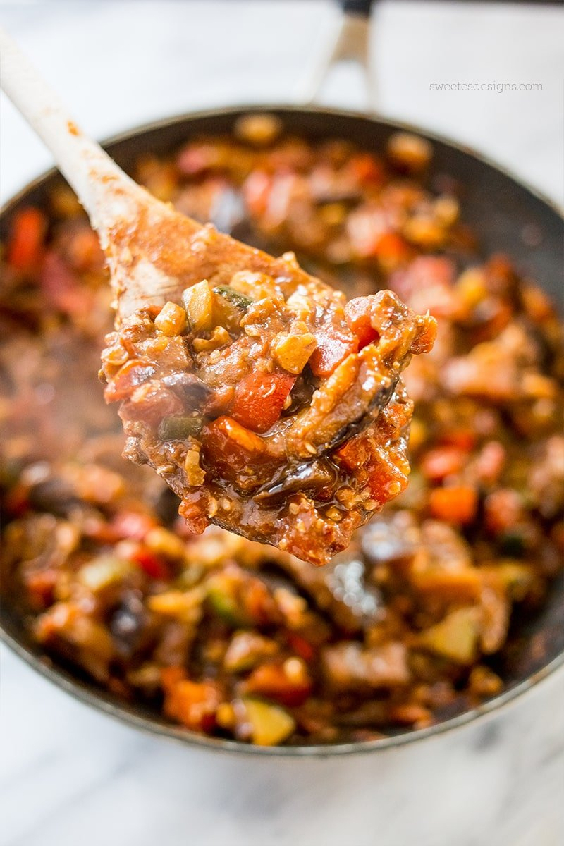 this meat free paleo friendly taco skillet is so delicious!