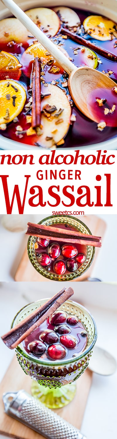 this non alcoholic ginger wassail is the most delicious mulled cider recipe ever!