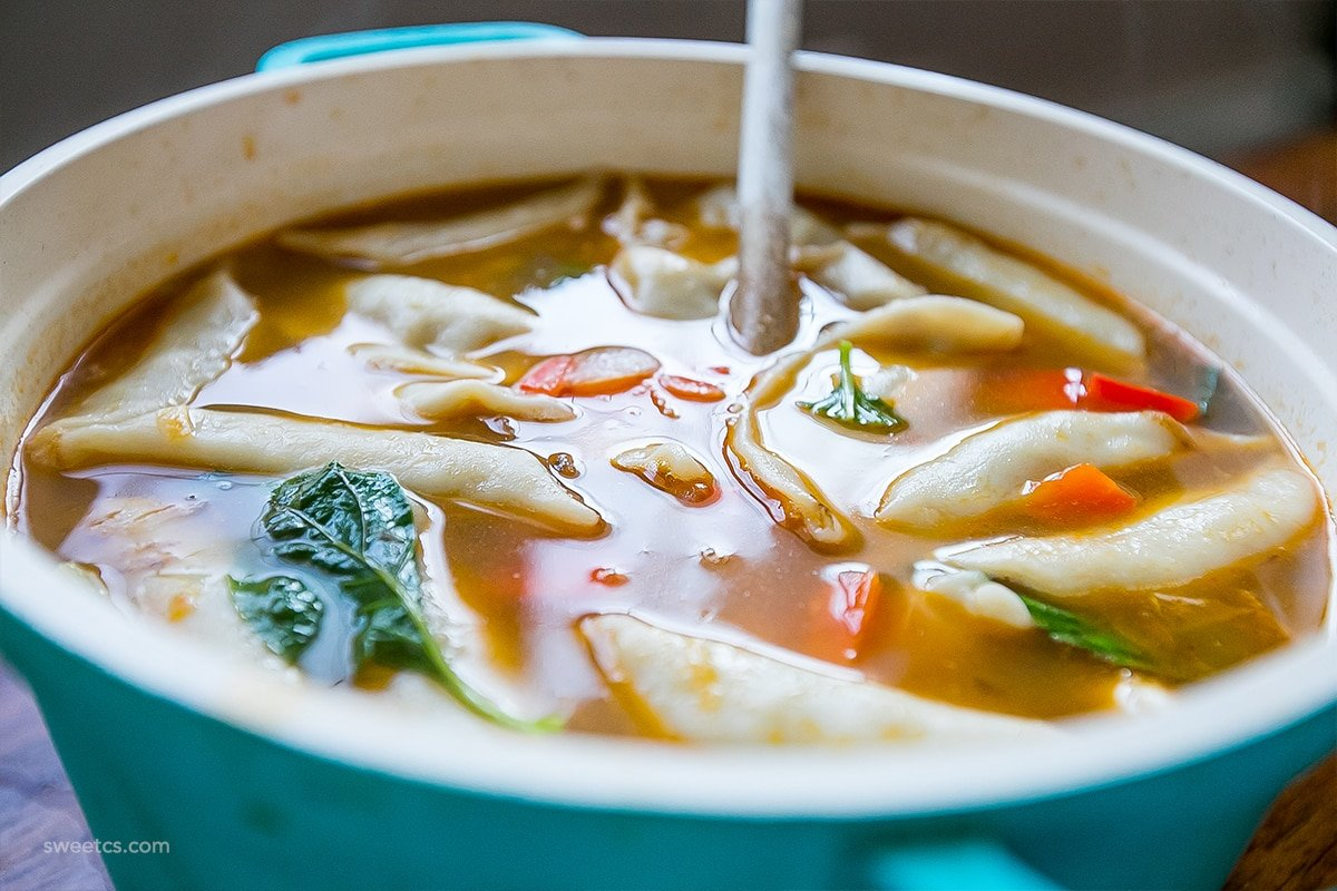 I could dive into this bowl of dumpling soup!