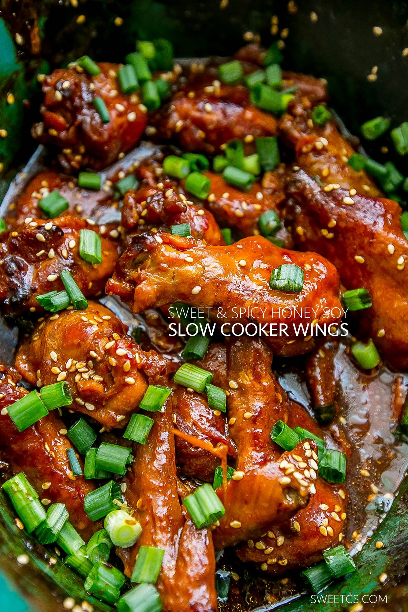 I love these easy honey soy slow cooker wings!