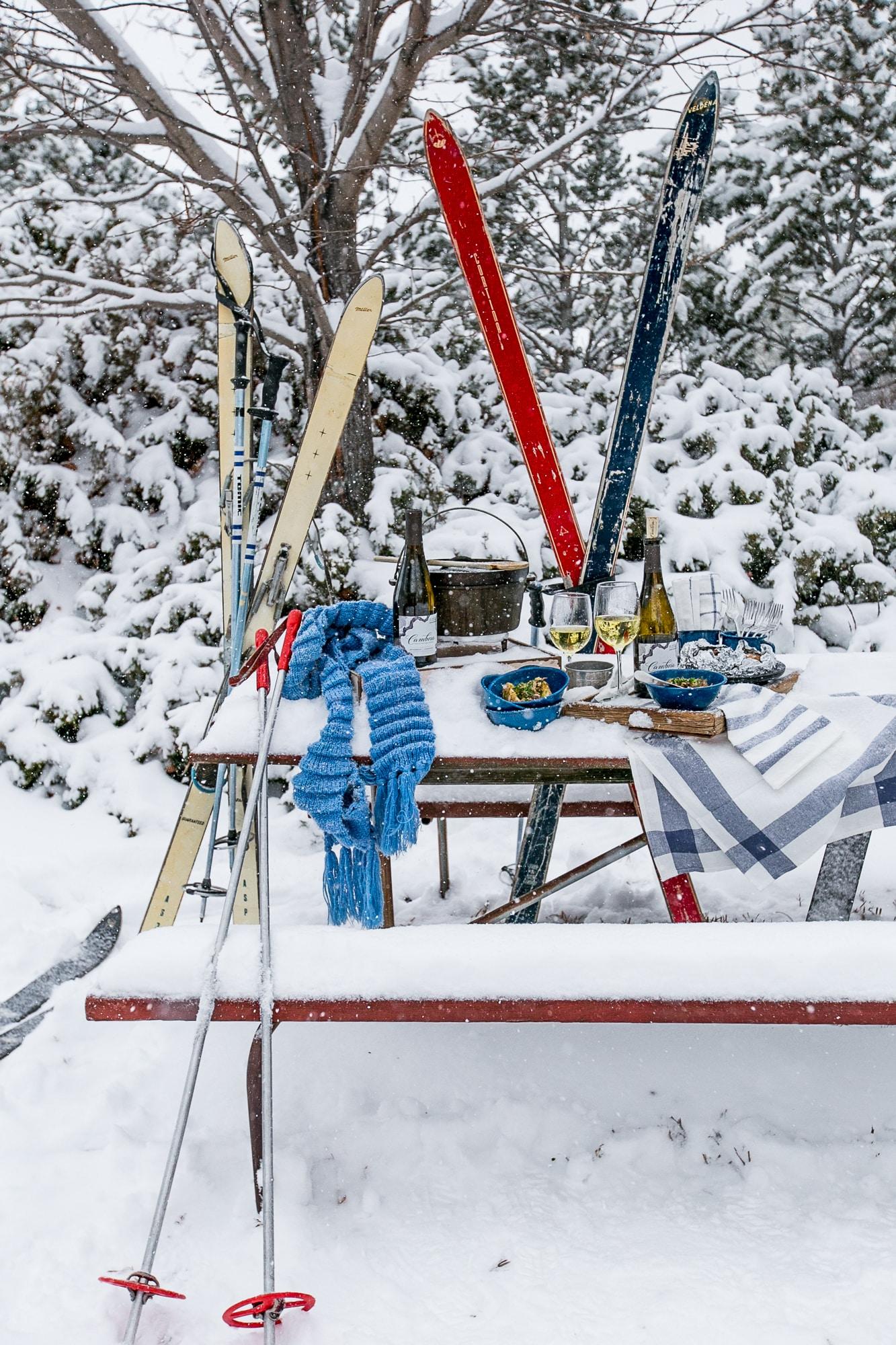 Love this apres ski picnic!