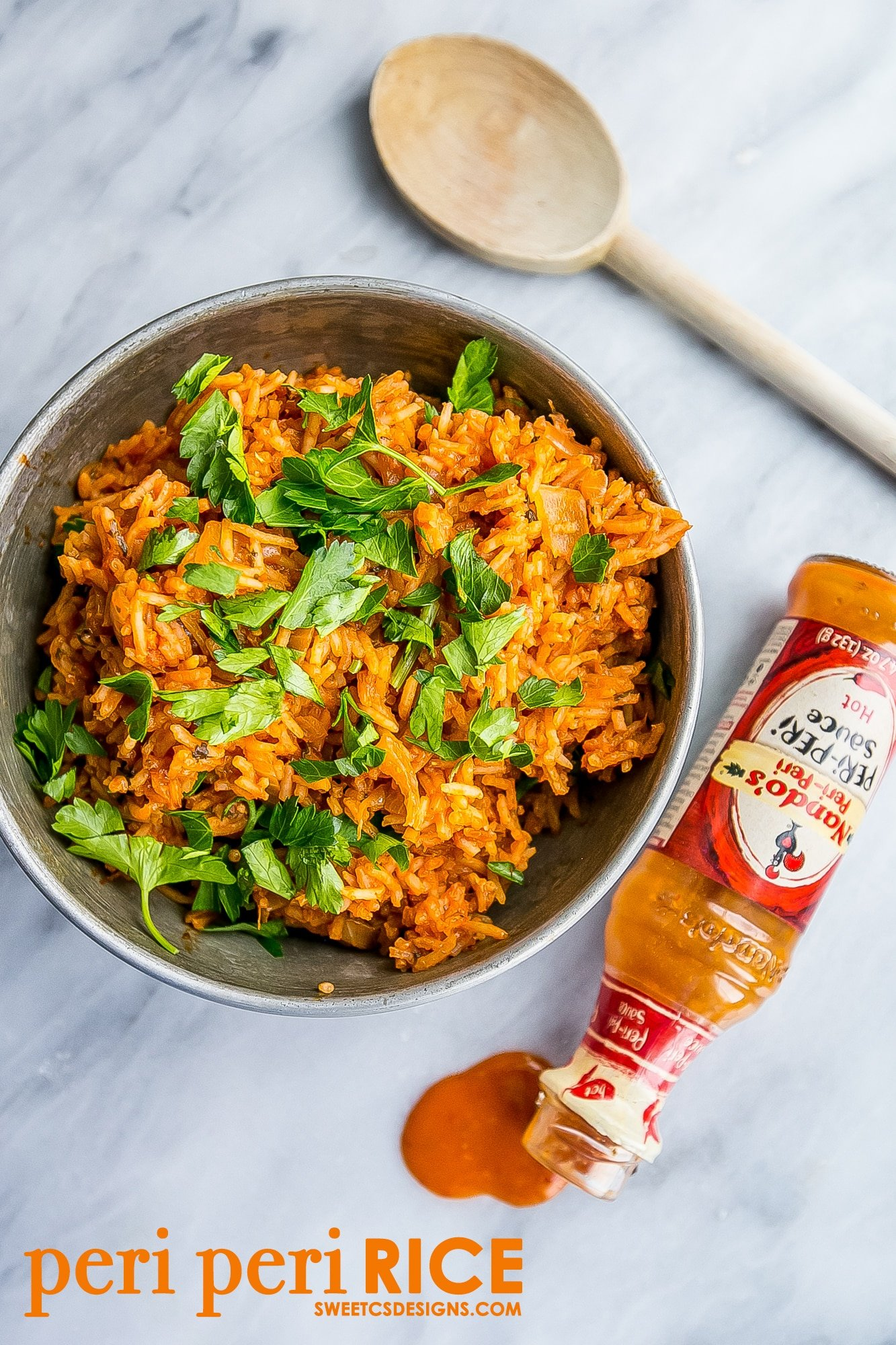 Nandos spicy peri peri rice at home - so easy and delicious!