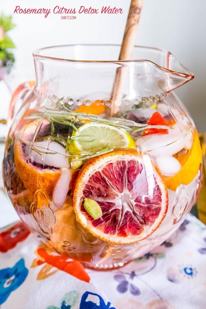 The rosemary citrus detox water is delicious with no added sugar!