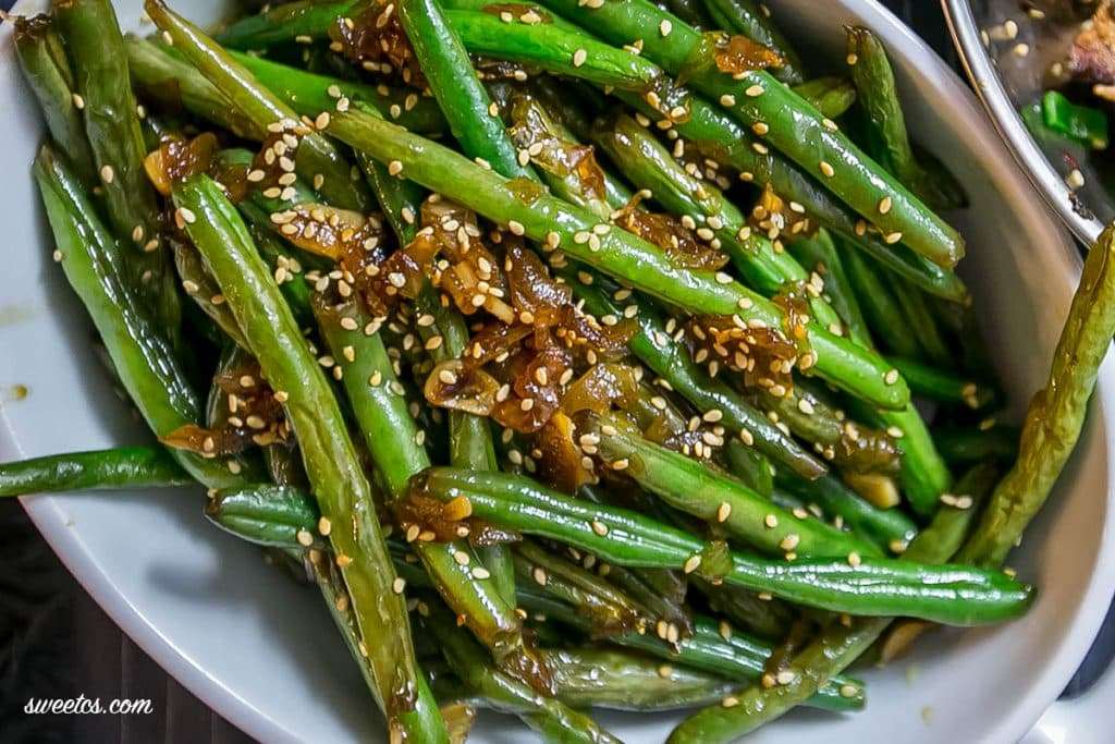 garlic ky green beans green beans with bacon roast green beans asian ...