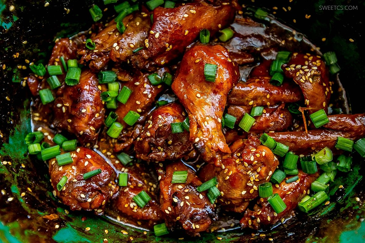 These honey soy wings are sweet, spicy, and super easy to make! Just toss in a slow cooker!
