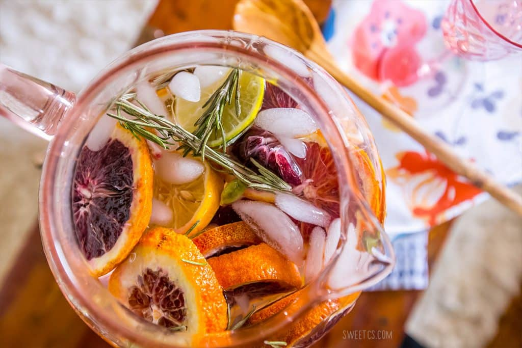 This delicious detox water is so refreshing- love the rosemary and citrus!