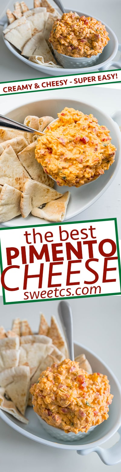 This is the tastiest pimento cheese dip ever! So good!
