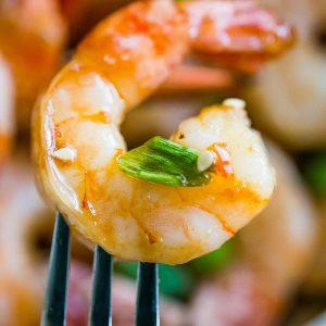 4 Ingredient Honey Ginger Baked Shrimp