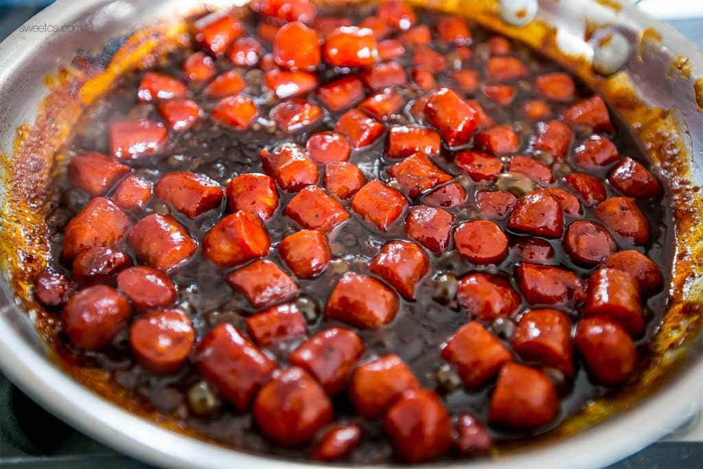 BBQ little smokies casserole