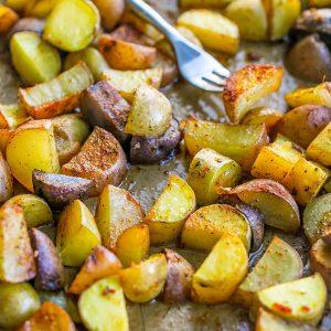 Honey Cajun Roasted Potatoes